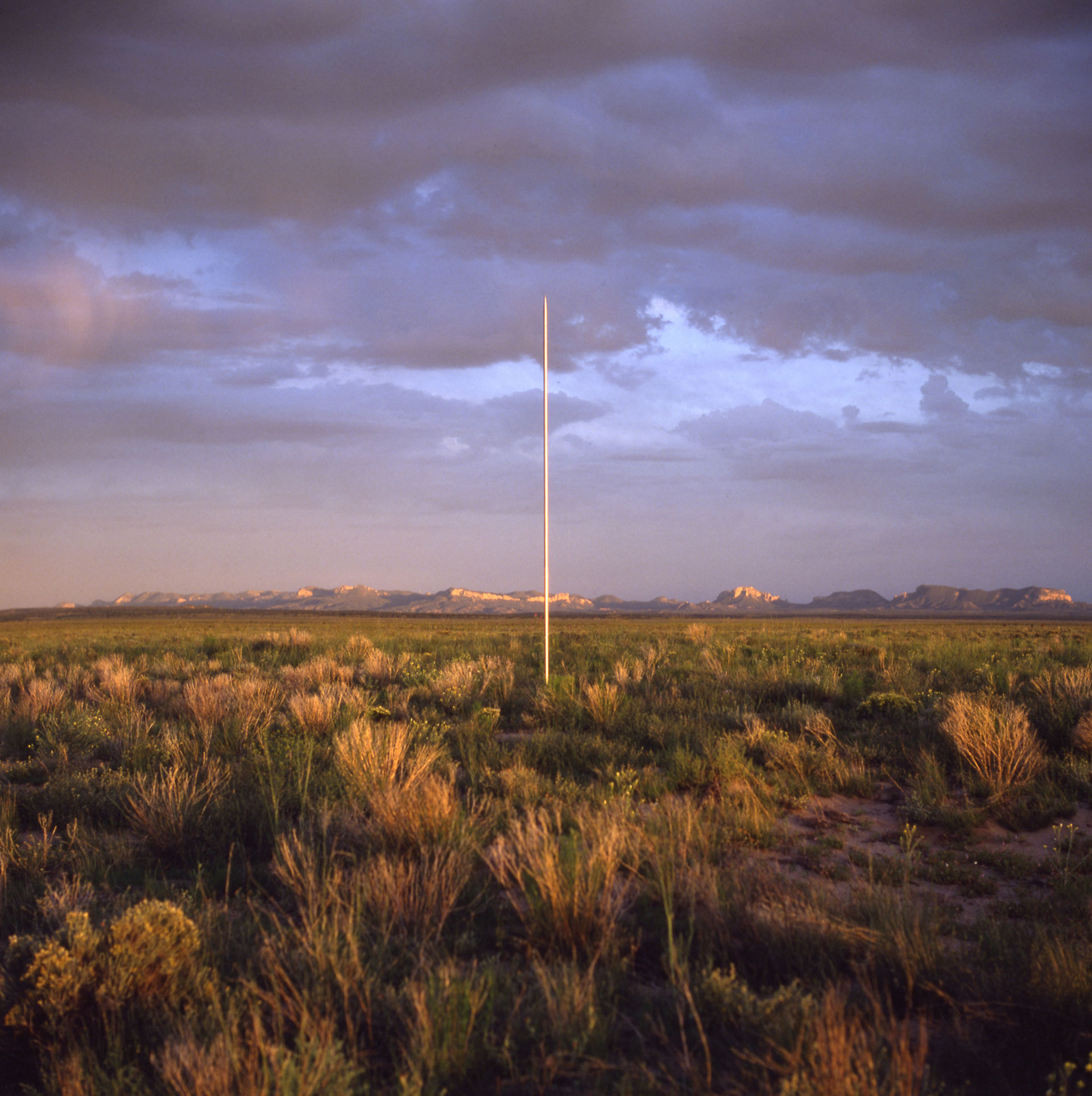 The Lightning Field, 1977, Western New Mexico. Commissioned by Dia Art Foundation. Copyright Estate of Walter De Maria. Photo John Cliett